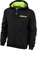 Mens Hoodie Zip Train Hard BlackGreen