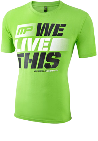 Mens T-Shirt We Live This Green
